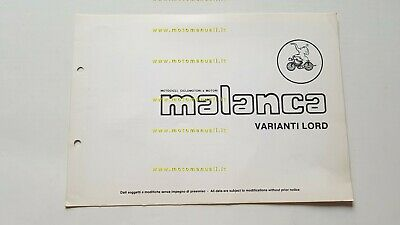 Malanca Lord 50 Tubone varianti catalogo ricambi originale spare parts catalogue