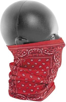 Zan Headgear T106 Polyester Motley Tube Red Paisley Face Covering