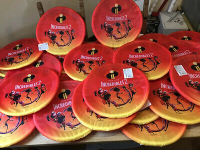 Joblot Of 24 Toys Incredibles 2 Giant Frisbees New