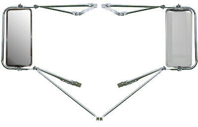 Set of Chrome Mounting Assembly Stainless Steel West Coast Mirror