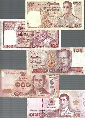 Thailand ✨ 100 Baht x 5 pieces RED banknote  ✨Collections & lots
