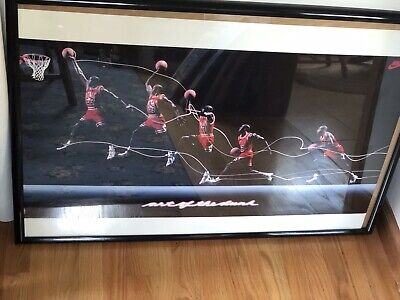 Vintage 1992 Nike Michael Jordan Art of the Dunk Officially Licensed NBA Poster