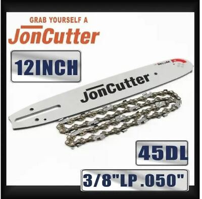 12 inch 3/8 LP .050 45DL Saw chain and Guide Bar Combo For JonCutter Prowler Pup