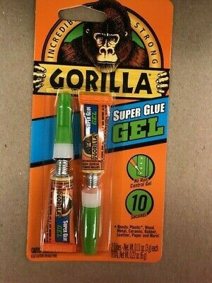 SUPER GLUE TWIN PACK GORILLA GLUE 2 TUBES 3g each #7820002