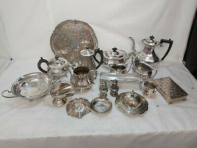 A Job Lot Of Antique/vintage Silver Plated Items.many Makers Names.