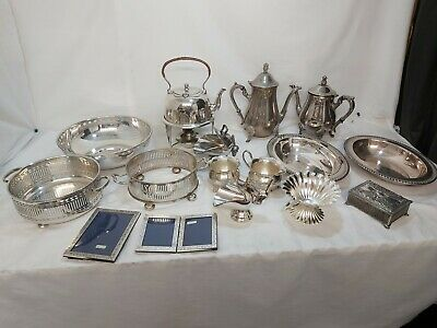 A Job Lot Of Antique/ Vintage Silver Plated Items.many Makers Names.