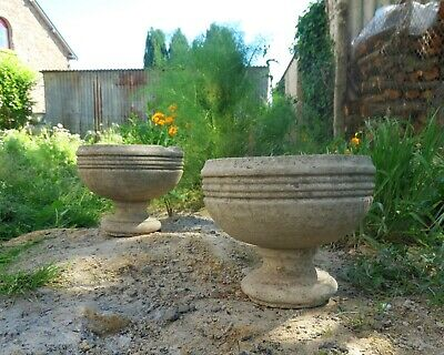 Pair of 20th Century French Stone Garden Urns