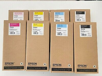Epson UltraChrome 8 Piece HDR Ink Set, f/Stylus Pro 7900/9900