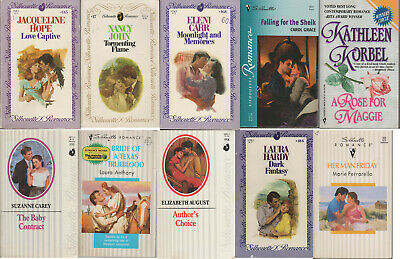 Silhouette Romance lot of 10 mass-market paperbacks good acceptable condition
