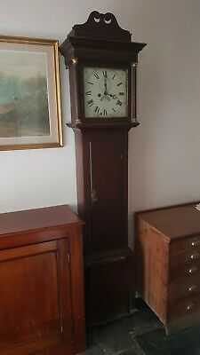 Antique Grandfather Clock English Mahogany