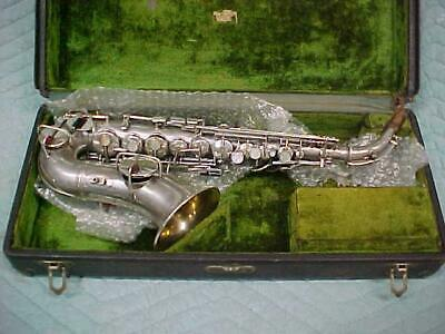 Antique CONN 4M New Wonder I Curved Soprano Saxophone, Very Good Condition!