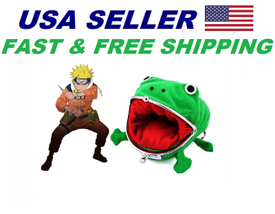 Naruto Gama-chan Frog Toad Coin Purse Wallet FAST SHIPPING US Seller