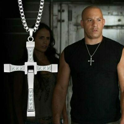 Collana croce Fast and furious Toretto Vin Diesel in acciaio
