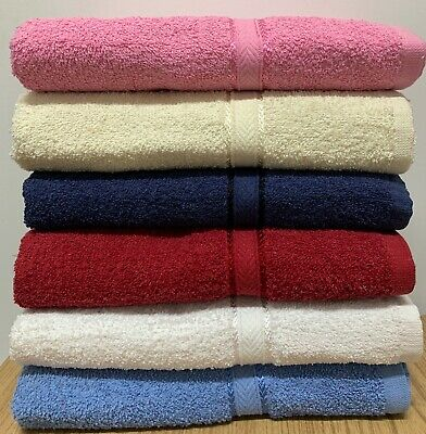 """Springfield Linen 6-Pack Bath Towels - Extra-Absorbent - 100% Cotton - 27"""" x 54"""""""