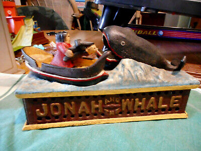 JONAH AND THE WHALE CAST IRON BANK  Shepards Hardware  1890