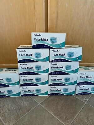 50 PACK Face Mask Mouth Cover Best Quality Brand new - Ship same day free