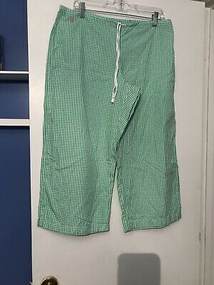 ralph lauren Checked Womens Pajama  Drawstring Waist Capri Pants Size L