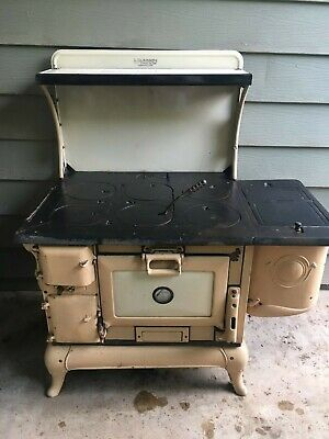 Vintage Cast Iron Wood Burning Stove. Made By Kazoo Kalamazoo Stove Co.