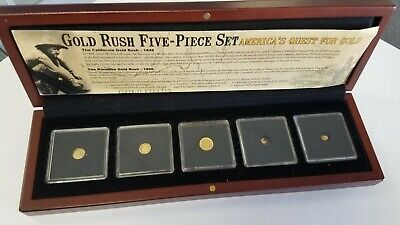 Gold Rush Five Piece Set Gold Nuggets And Gold Coins