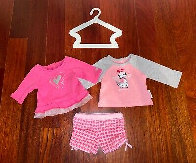 """American Girl 18"""" Doll Truly Me MIX & MATCH OUTFIT Sparkle Heart Shirt Shorts AG"""