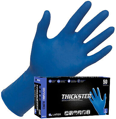 SAS 6603-20 Thickster Powder Free Exam Grade Latex Gloves (Size Large) 50ct Box