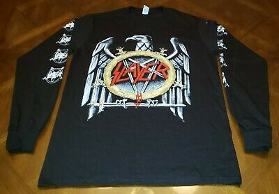 New Slayer The Final Campaign 2019 Concert Tour Black Long Sleeve Shirt - Small