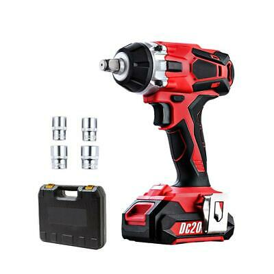 GIANTZ Cordless Impact Wrench 20V Lithium-Ion Battery Rattle Gun Sockets