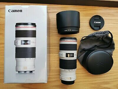 Canon EF 70-200mm f/4 L IS USM Lens. Great Condition & Boxed