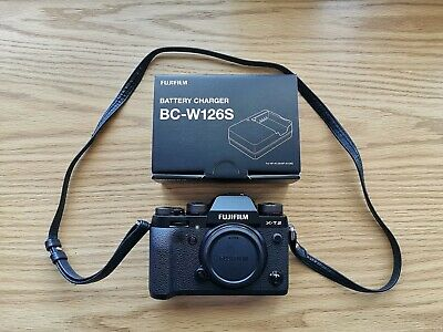 Fujifilm X-T2 24.3 MP Digital Camera with battery, charger and strap.