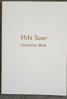 Quad FM4 Original Instruction Book, Sales Brochure and Circuit Diagram