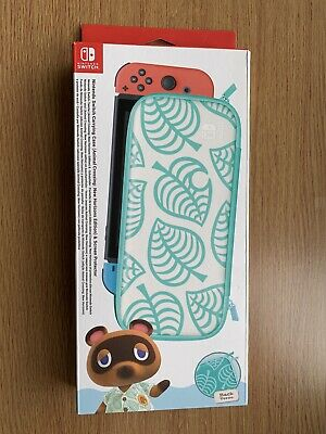 New Official Nintendo Switch Carrying Case & Screen Protector Animal Crossing