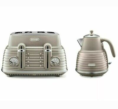 Delonghi Scolpito Kettle & Toaster Set Champagne + FREE DELIVERY