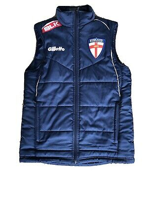 England Rugby League BLK padded gilet (Small)