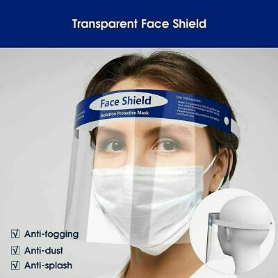 Full Face Visor Safety Face PPE Shield Protection Cover Reusable Plastic Guard