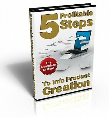 5 profitable steps to info product creation - Pdf Ebook - Free Shipping