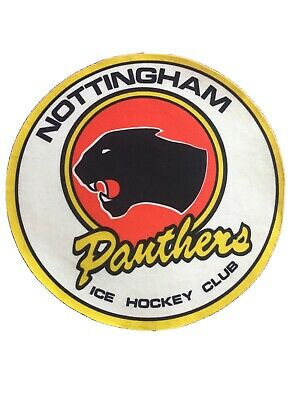 Vintage Nottingham Panthers Fabric Badge 1980's 9 Inches Diameter