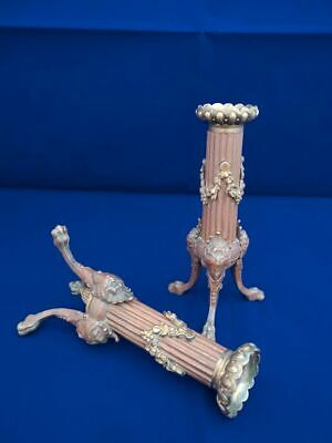 PAIR ANTIQUE FRENCH CANDLESTICKS VICTORIAN NAPOLEON III c1870 NEOCLASSICAL