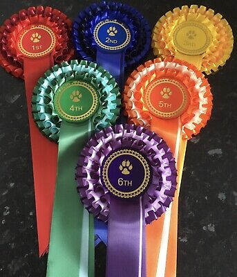 "3 Tier ""Best In Show and Reserve Best in Show"" Rosettes BNWT"