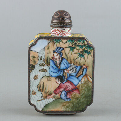 Chinese Exquisite Handmade copper Enamel snuff bottle