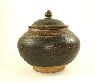 A Song Dynasty Henan Black-Glazed Jar and Cover