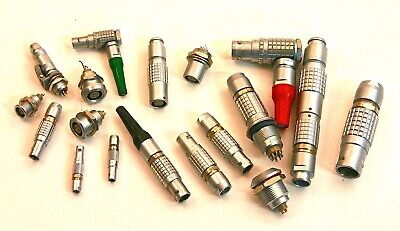 Large Lot of LEMO Connectors, Sizes 00 to 3