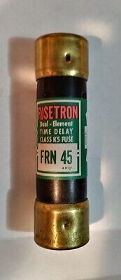 Bussmann FUSETRON FRN-45 Amp Fuse Dual-Element Time-Delay Current Limiting