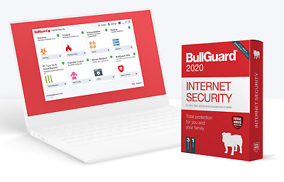 BullGuard Internet Security 2020 (PC/Mac/Android) 3 Devices 1 Year - Genuine, UK