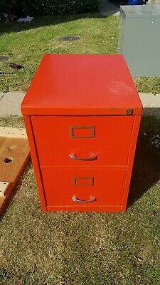 Red 2 Drawer Filing Cabinet