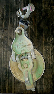 Vintage Sherman & Reilly XS-100-B Stringing Block Pulley 2500 LB