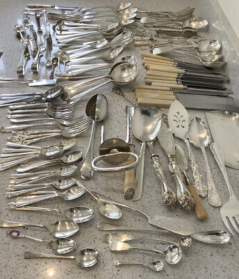 Very Large Job Lot Antique / Vintage Silver Plated Cutlery