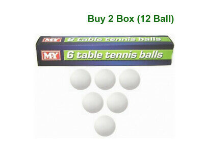 Plain White Ping Pong Table Tennis Balls sports 12 PC In Pack New /& Free Postage
