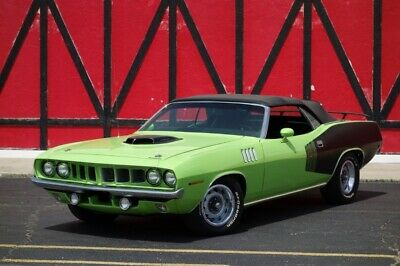 1971 Plymouth Barracuda / Cuda -426 HEMI- 4 SPEED MANUAL -  PISTOL GRIP SHIFTER 1971 Plymouth Barracuda / Cuda, Sub Lime Green with 50 Miles available now!