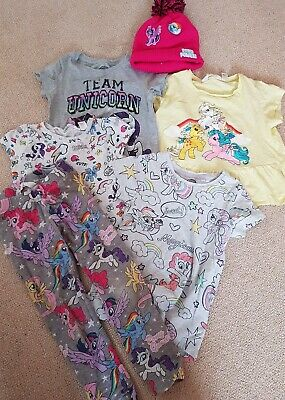 Girls Bundle My Little Pony Tops and Leggings, hat Age 5 6 7