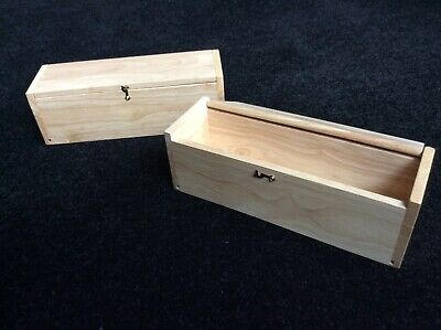 2 wooden storage boxes with lids ideal for craft decoupage